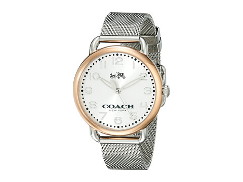 COACH Delancey 36mm Mesh Bracelet Watch - Silver/Stainless Steel