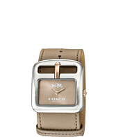 COACH - Duffle Buckle 38mm Leather Strap Watch