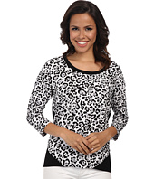 Jones New York - Animal Print Bottom Wrap Top