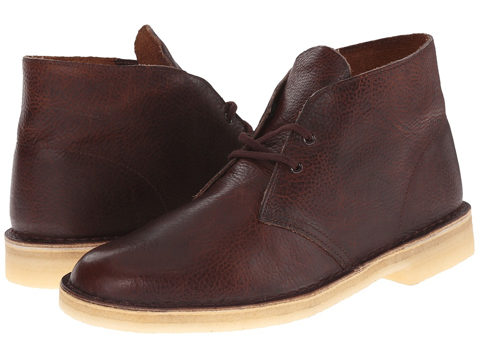 Clarks Desert Boot Rust Leather Mens Lace up Boots