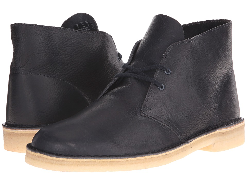 Clarks Desert Boot Navy Leather Mens Lace up Boots