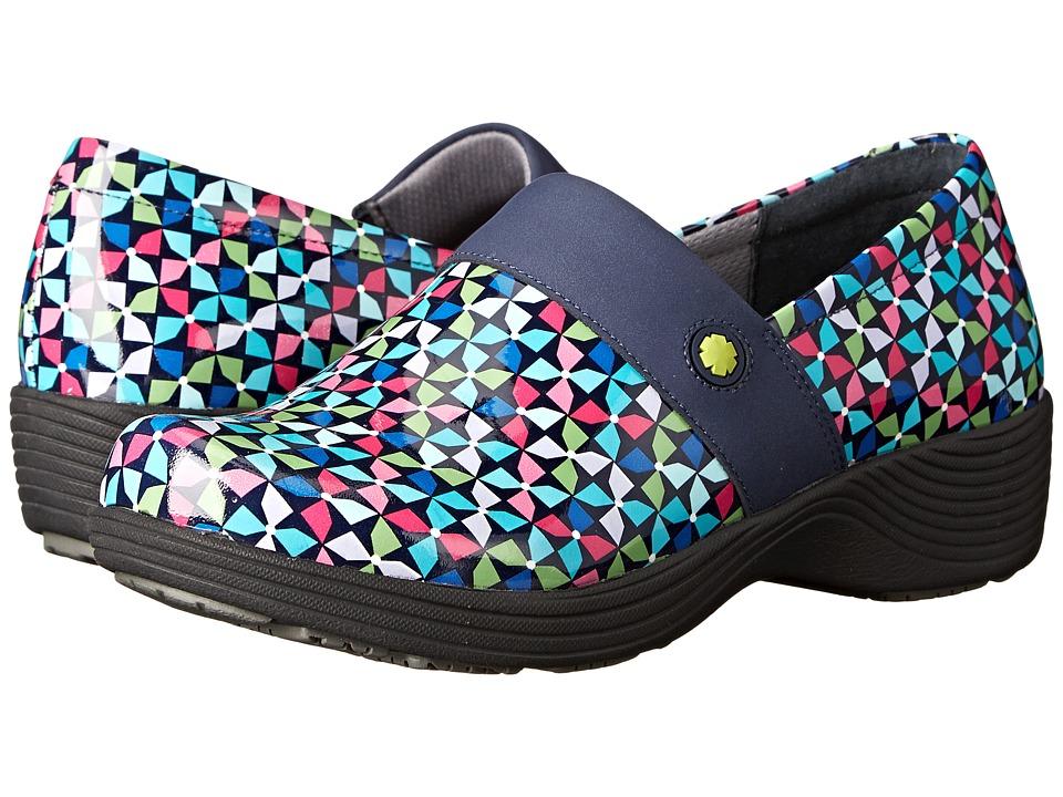 Work Wonders by Dansko Camellia Pinwheel Patent Womens Clog Shoes