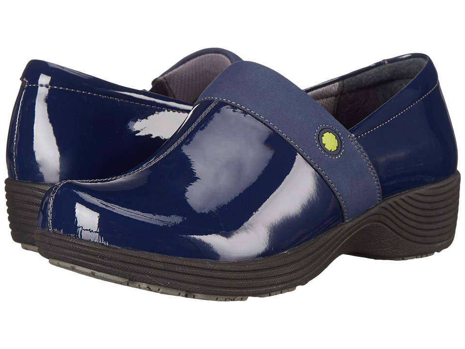 Work Wonders by Dansko Camellia Navy Patent Womens Clog Shoes