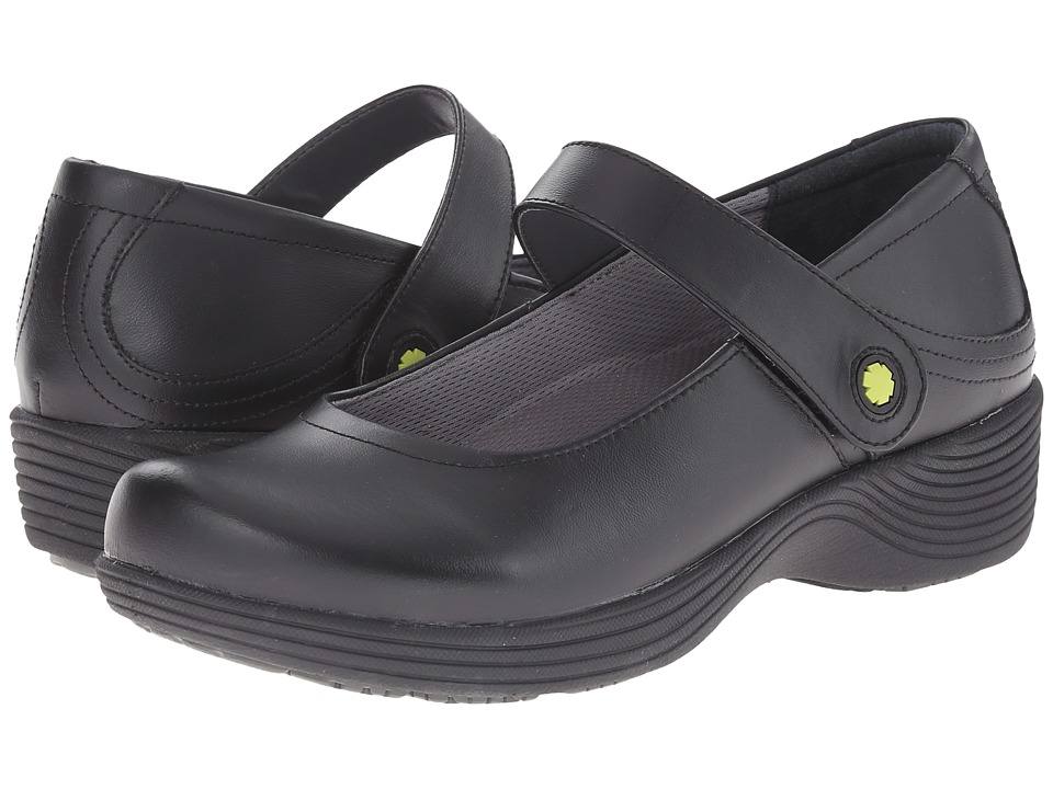 Work Wonders by Dansko - Clover (Black Leather) Womens Clog Shoes