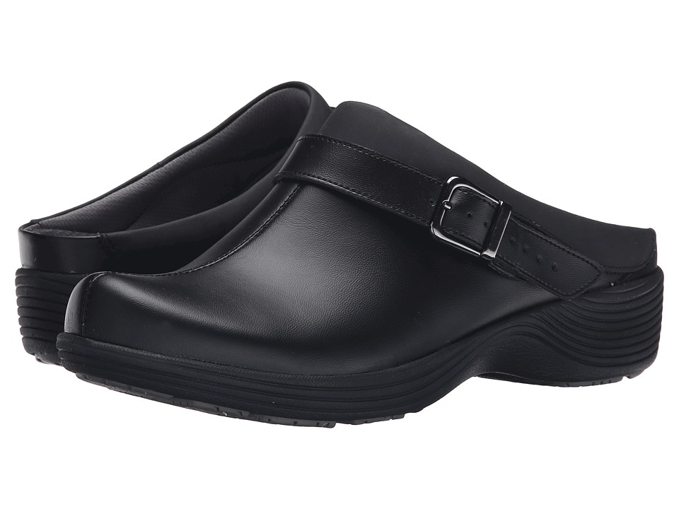 Work Wonders by Dansko - Carnation (Black Leather) Womens Clog Shoes