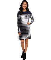 Lacoste - Long Sleeve Placement Stripe Wool Sweater Dress