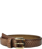 MICHAEL Michael Kors - 20mm Feather Edge Genuine Snake Panel on Tortoise Roller Bar Buckle Belt