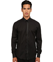 Versace Collection - Leather Applique Stretch Cotton Shirt