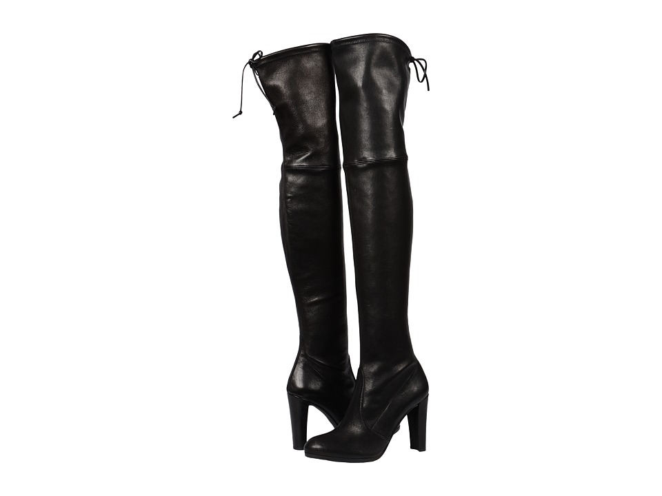 Stuart Weitzman Highland (Nero Plonge) Women's Dress Pull-on Boots