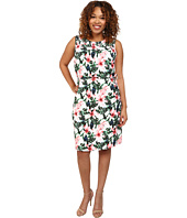 Vince Camuto Plus - Plus Size Tropical Rain Sleeveless Jungle Lily Dress w/ Smocked Yoke