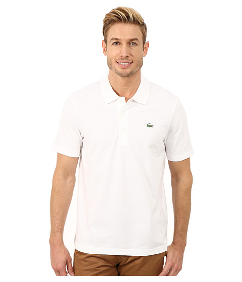 Lacoste Sport Golf Short Sleeve Super Light Stretch Solid Polo - White