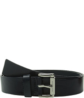 MICHAEL Michael Kors - 32mm Leather Panel on MK Roller Bar Buckle Belt