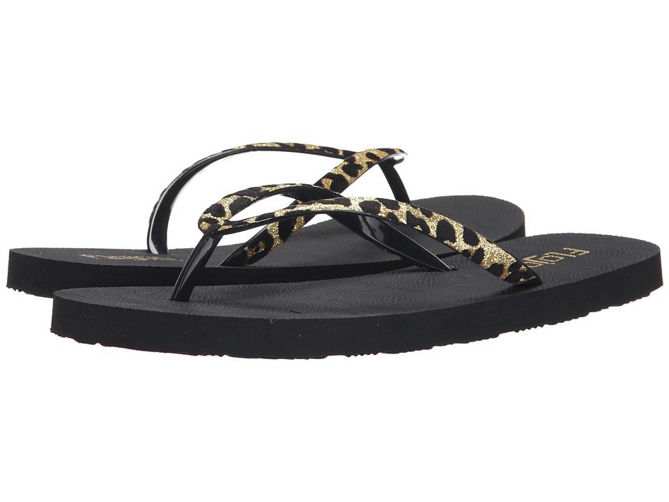 Flojos Nicole Gold/Black Womens Sandals