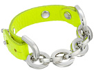 Gypsy SOULE Leather Chain Bracelet (Neon Green)