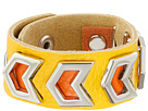 Gypsy SOULE Leather Arrow Cutout Bracelet (Yellow)