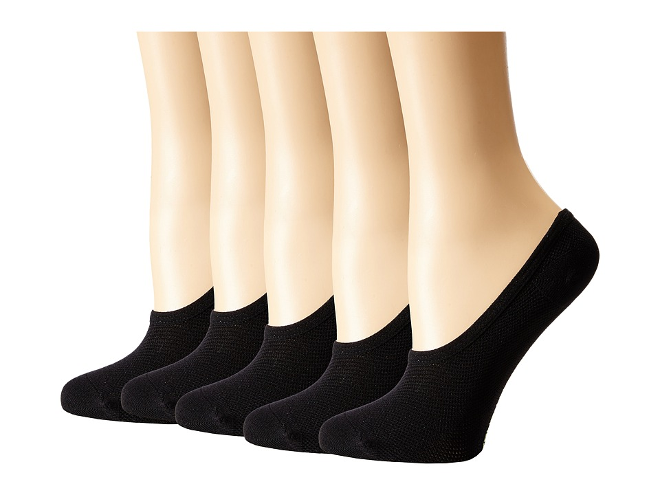 Steve Madden - 5-Pack Black Mesh Footie (Black) Women