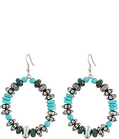 Gypsy SOULE - Turquoise and Silver Loop Earrings