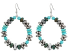 Gypsy SOULE Turquoise and Silver Loop Earrings (Turqouise)