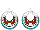 Gypsy SOULE Southwest Oval Drop Earrings (Silver)