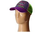 Gypsy SOULE Women Who Live By Their Own Rules Trucker Hat (Purple/Green)