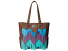 Gypsy SOULE Cheveron Fringe Tote (Brown)