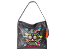 Gypsy SOULE Don't Walk In Fear Sugar Skull Shoulder Bag (Gray)