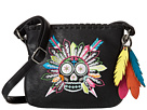 Gypsy SOULE Sugar Skull Adjustable Crossbody (Black)
