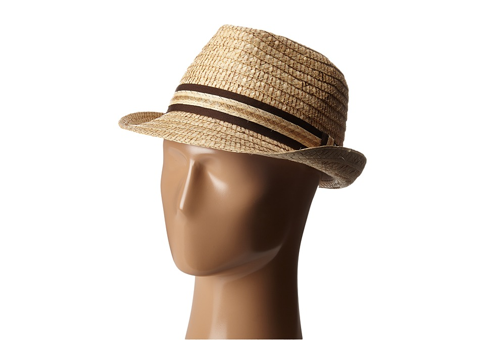 Tommy Bahama - Vent Crochet Raffia Fedora X (Tea) Fedora Hats