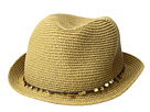Tommy Bahama Tommy Bahama Paper Braid Fedora with Sequins Trim