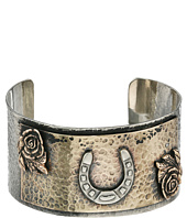 Gypsy SOULE - Horseshoe & Roses Hammered Silver Cuff