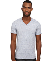 Vince - Short Sleeve Jaspe Cotton/Modal V-Neck