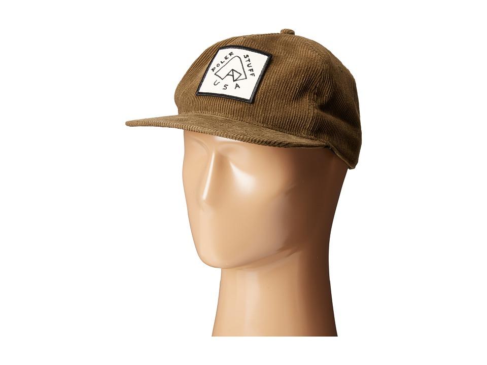 Poler Floppy Cord Tent Hat Mossy Caps