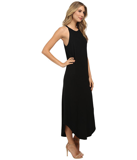 Black Leigh Bib Tank Dress by LNA