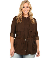 Vince Camuto Plus - Plus Size Serengeti Cinched Waist Rumple Anorak