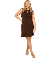 Vince Camuto Plus - Plus Size Serengeti Sleeveless Lace Up Dress w/ Front Pockets