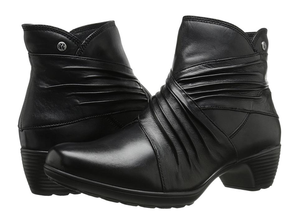 Romika Banja 05 Black Glove Womens Zip Boots