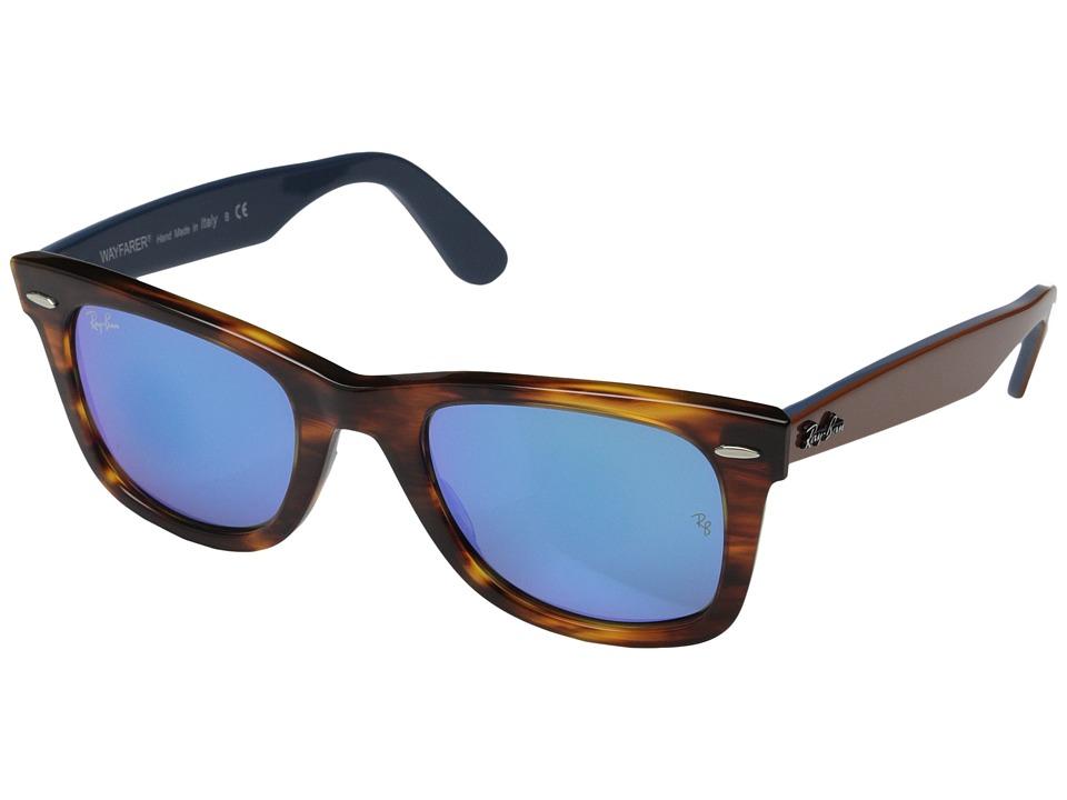 Ray-Ban RB2140 Original Wayfarer 54mm (Havana/Blue Mirror) Sport Sunglasses