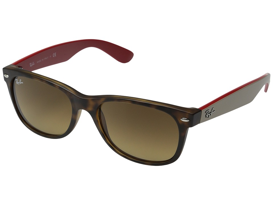 Ray-Ban RB2132 New Wayfarer 55mm (Havana Matte/Dark Brown Gradient) Fashion Sunglasses