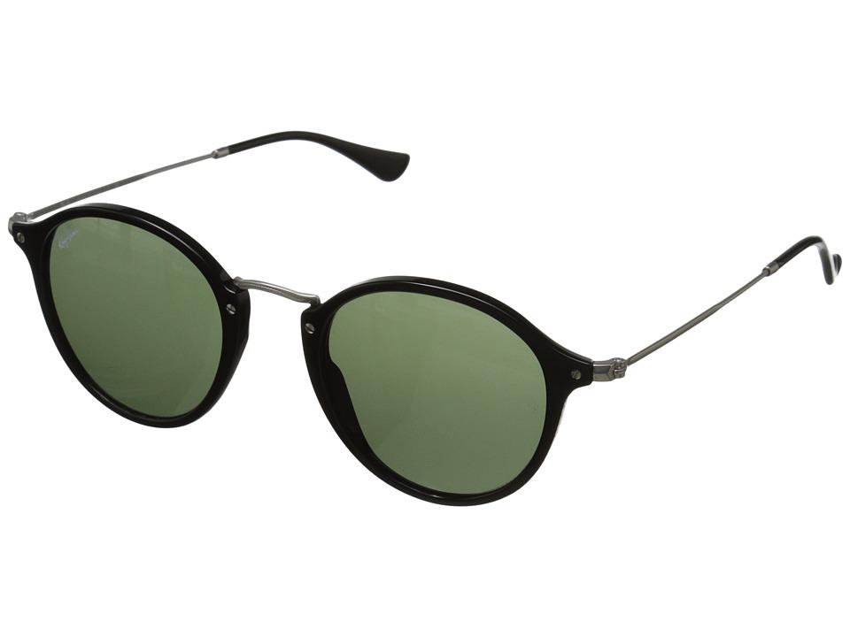 Ray-Ban RB2447 49mm (Black/Green) Fashion Sunglasses