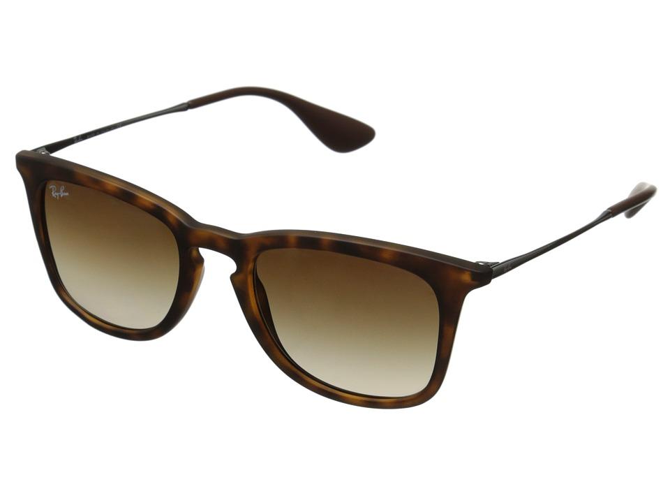 Ray-Ban RB4221 50mm (Havana Rubberized/Brown Gradient) Fashion Sunglasses