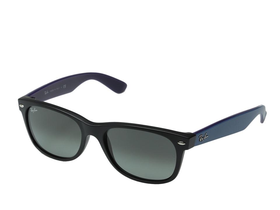 Ray-Ban RB2132 New Wayfarer 55mm (Black Matte/Dark Gray Gradient) Fashion Sunglasses