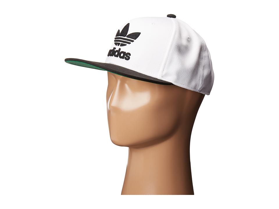 adidas - Original's Chain Snapback (White/Black) Caps