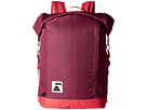 Poler Rolltop Backpack (Sweet Berry Wine/Steel Blue/Cayenne)