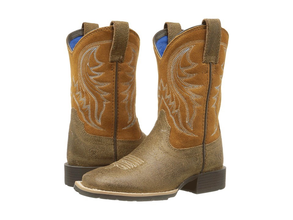 Ariat Kids Hybrid Rancher Toddler/Little Kid/Big Kid Rustic Bark/Tan Cowboy Boots