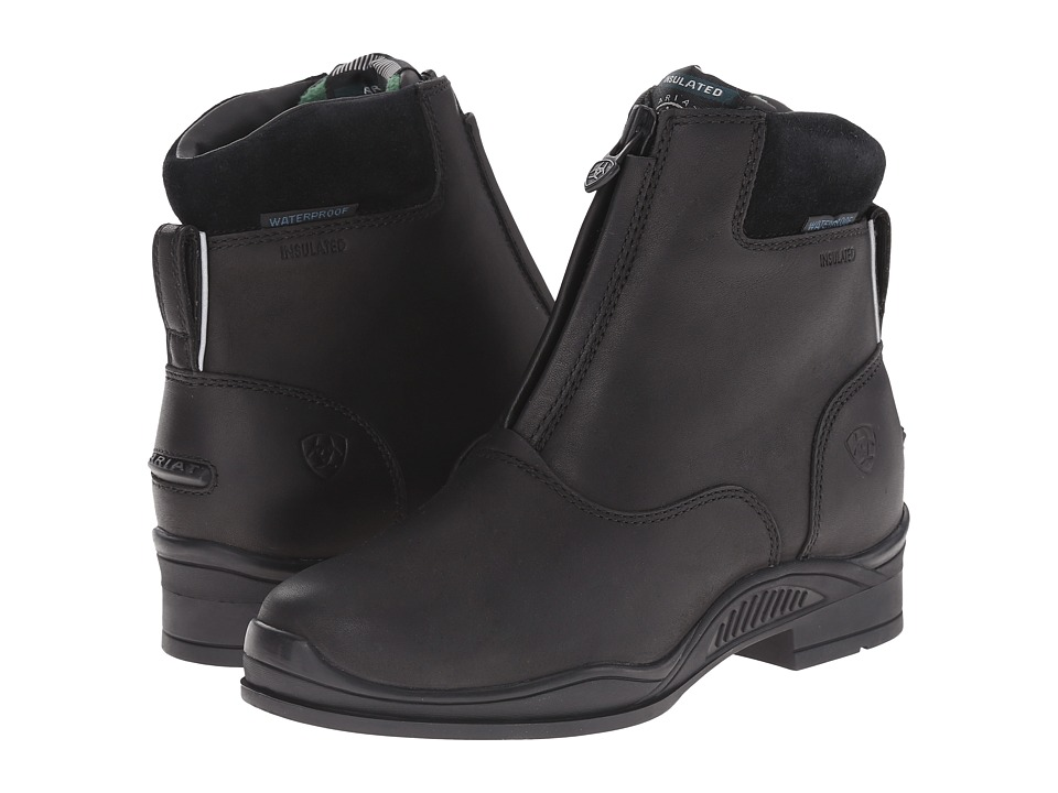 Image of Ariat English Kids - Extreme Zip Paddock H2O (Little Kid/Big Kid) (Insulated Black) Cowboy Boots