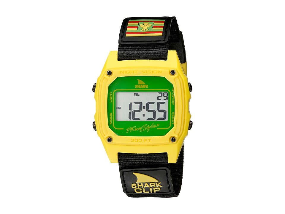 Freestyle Shark Clip Hawaii Black/Yellow Watches