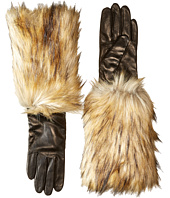 Kate Spade New York - Faux Fox Fur Leather Glove