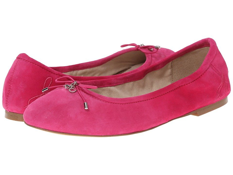Retro Vintage Flats and Low Heel Shoes Sam Edelman - Felicia Candy Pink Womens Flat Shoes $69.99 AT vintagedancer.com