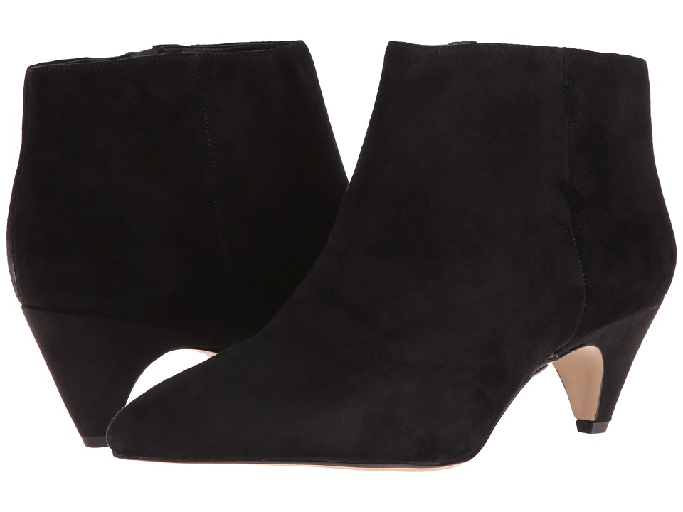 Sam Edelman - Lucy Ankle Boot (Black Suede/Canvas 1) Women
