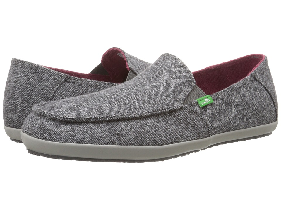 Sanuk Casa TX Grey Herring Mens Slip on Shoes